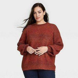 2x Ava & Viv Sweater Crewneck Ombre Pullover Sweat